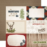Carta Bella Paper - Warm and Cozy Collection - Christmas - 12 x 12 Double Sided Paper - 4 x 6 Journaling Cards