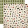 Carta Bella Paper - Warm and Cozy Collection - Christmas - 12 x 12 Double Sided Paper - Winter Hats