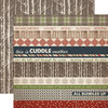 Carta Bella Paper - Warm and Cozy Collection - Christmas - 12 x 12 Double Sided Paper - Border Strip