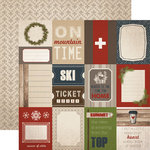Carta Bella Paper - Warm and Cozy Collection - Christmas - 12 x 12 Double Sided Paper - 3 x 4 Journaling Cards