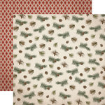 Carta Bella Paper - Warm and Cozy Collection - Christmas - 12 x 12 Double Sided Paper - Pine Branches