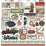 Carta Bella Paper - Warm and Cozy Collection - Christmas - 12 x 12 Cardstock Stickers - Elements