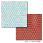 Carta Bella Paper - Winter Fun Collection - 12 x 12 Double Sided Paper - Classic Snowflake