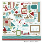 Carta Bella Paper - Winter Fun Collection - 12 x 12 Cardstock Stickers - Elements