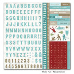 Carta Bella Paper - Winter Fun Collection - 12 x 12 Cardstock Stickers - Alphabet
