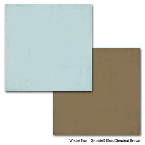 Carta Bella Paper - Winter Fun Collection - 12 x 12 Double Sided Paper - Snowfall Blue
