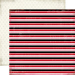 Carta Bella Paper - Words of Love Collection - 12 x 12 Double Sided Paper - Lovely Stripe