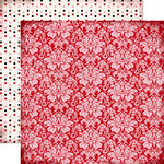 Carta Bella Paper - Words of Love Collection - 12 x 12 Double Sided Paper - Lovely Damask