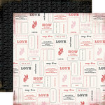 Carta Bella Paper - Words of Love Collection - 12 x 12 Double Sided Paper - Lessons In Love