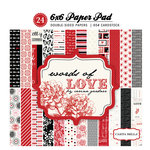 Carta Bella Paper - Words of Love Collection - 6 x 6 Paper Pad