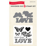 Carta Bella Paper - Words of Love Collection - Designer Die and Clear Acrylic Stamp Set - Because I Love