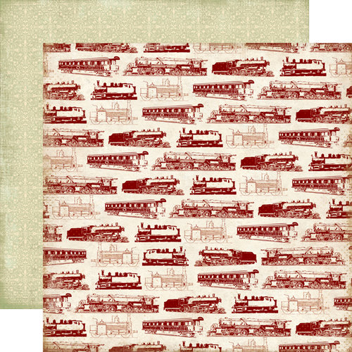 Carta Bella Paper - Well Traveled Collection - 12 x 12 Double Sided Paper - The Express
