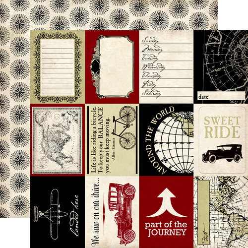 Carta Bella Paper - Well Traveled Collection - 12 x 12 Double Sided Paper - Travel Cards