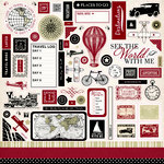 Carta Bella Paper - Well Traveled Collection - 12 x 12 Cardstock Stickers - Elements