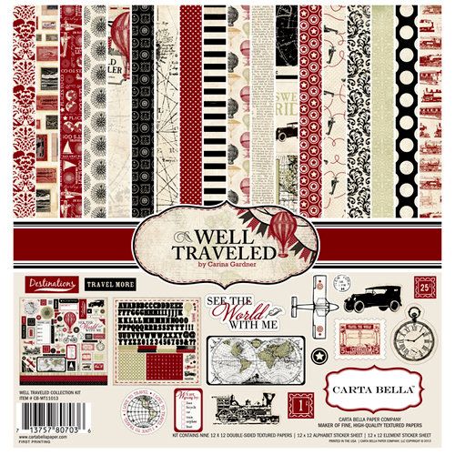 Carta Bella Paper - Well Traveled Collection - 12 x 12 Collection Kit