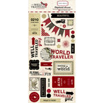 Carta Bella Paper - Well Traveled Collection - Chipboard Stickers