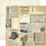 Carta Bella Paper - Yesterday Collection - 12 x 12 Double Sided Paper - Yesterday Ads