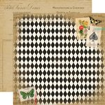 Carta Bella Paper - Yesterday Collection - 12 x 12 Double Sided Paper - Papillion