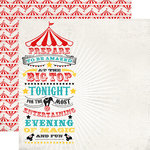 Carta Bella - Circus Party Collection - 12 x 12 Double Sided Paper - Magic and Fun