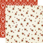 Carta Bella - Christmas Wonderland Collection - 12 x 12 Double Sided Paper - Poinsettia