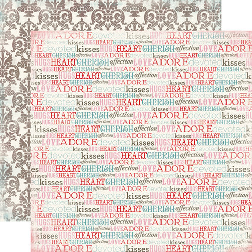 Carta Bella Paper - Devoted Collection - 12 x 12 Double Sided Paper - Words of Love