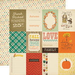Carta Bella - Fall Blessings Collection - 12 x 12 Double Sided Paper - 3 x 4 Journaling Cards