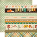 Carta Bella - Fall Blessings Collection - 12 x 12 Double Sided Paper - Border Strips