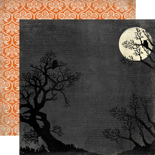 Carta Bella Paper - Happy Haunting Collection - Halloween - 12 x 12 Double Sided Paper - Full Moon