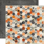 Carta Bella Paper - Happy Haunting Collection - Halloween - 12 x 12 Double Sided Paper - Haunting Hexagon