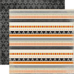 Carta Bella Paper - Happy Haunting Collection - Halloween - 12 x 12 Double Sided Paper - Border Strips