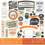 Carta Bella Paper - Happy Haunting Collection - Halloween - 12 x 12 Cardstock Stickers - Elements