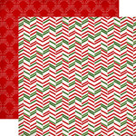 Carta Bella - Have a Merry Christmas Collection - 12 x 12 Double Sided Paper - Christmas Herringbone