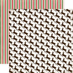Carta Bella - Have a Merry Christmas Collection - 12 x 12 Double Sided Paper - Leaping Reindeer