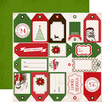 Carta Bella - Have a Merry Christmas Collection - 12 x 12 Double Sided Paper - Holiday Tags