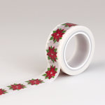 Carta Bella - Have a Merry Christmas Collection - Decorative Tape - Poinsettia