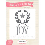 Carta Bella - Have a Merry Christmas Collection - Designer Dies - Joy Wreath