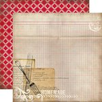 Carta Bella Paper - Home Sweet Home Collection - 12 x 12 Double Sided Paper - Recipe Card