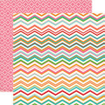 Carta Bella - Soak Up The Sun Collection - 12 x 12 Double Sided Paper - Chevron