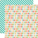 Carta Bella - Soak Up The Sun Collection - 12 x 12 Double Sided Paper - Popsicles