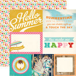 Carta Bella - Soak up the Sun Collection - 12 x 12 Double Sided Paper - 4 x 6 Journaling Cards
