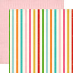 Carta Bella - Soak up the Sun Collection - 12 x 12 Double Sided Paper - Stripe