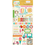 Carta Bella - Soak Up The Sun Collection - Chipboard Stickers