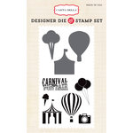 Carta Bella - Soak Up The Sun Collection - Designer Die and Clear Acrylic Stamp Set - Carnival Fun