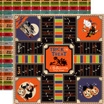 Carta Bella - Trick or Treat Collection - Halloween - 12 x 12 Double Sided Paper - Bewitching Game