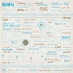 Carolee's Creations - Patterned Paper - Winter Collection - Winter Fun Words, CLEARANCE