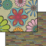 Carolee's Creations - Patterned Paper - Doublesided - Flea Market - Kaleidoscope, CLEARANCE