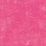 Carolee's Creations Adornit - Valentine's Love Collection - Paper - Cotton Candy Hearts, CLEARANCE