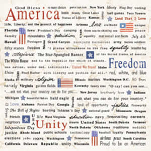 Carolee's Creations Adornit - Patriotic Collection - Paper - Freedom Words