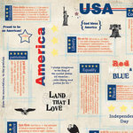 Carolee's Creations - Adornit - All American Collection - 12x12 Paper - All American Words, CLEARANCE