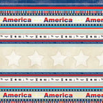 Carolee's Creations - Adornit - All American Collection - 12x12 Paper - Bless America Stripe